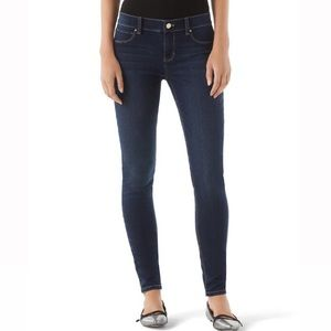 WHBM XS skinny noir medium dark wash ankle jeans